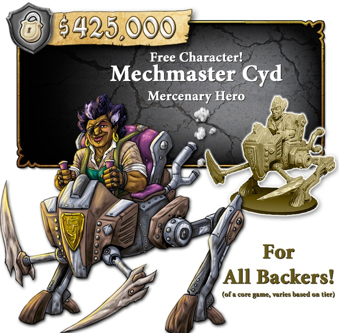 Must be backing at a CORE game level. Deluxe CORE Backers will receive a pre-painted mini. CORE Backers will receive an unpainted mini. STANDEE CORE Backers will receive a STANDEE.