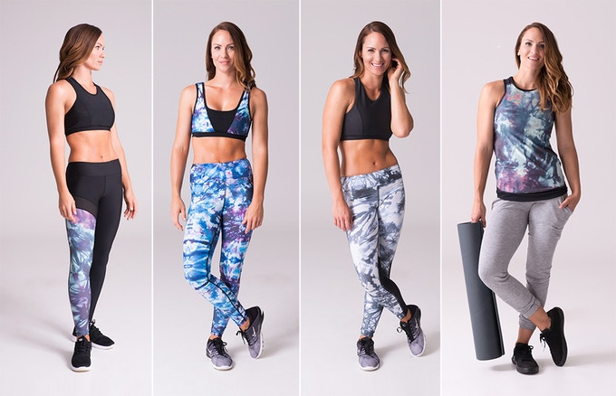DAUB | ACTIVE launching February 2017 with wide waistband leggings in 3 styles, 2 sports bras, 1 tank and more.