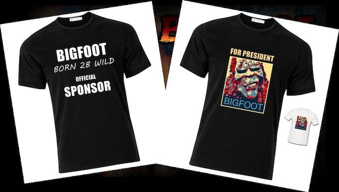 Bigfoot Promotional Tee Shirt Samples