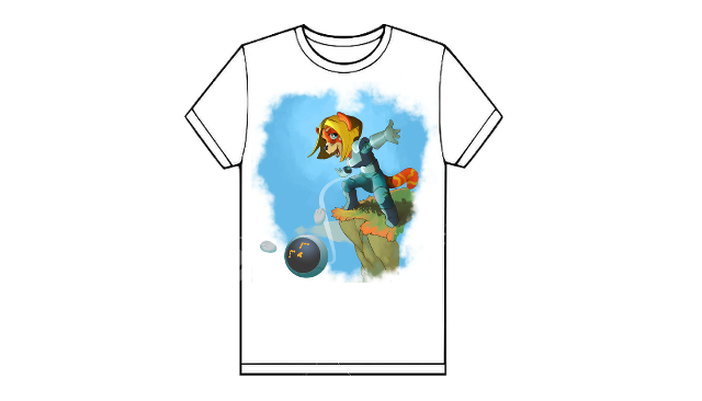 T-shirt, un exemple de modèle (fille)