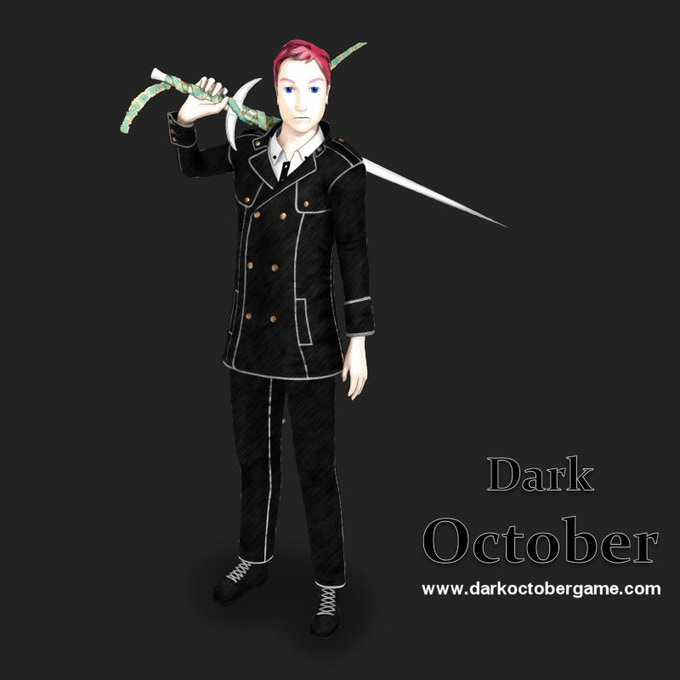 Tristan Moore, male playable character of Dark October.