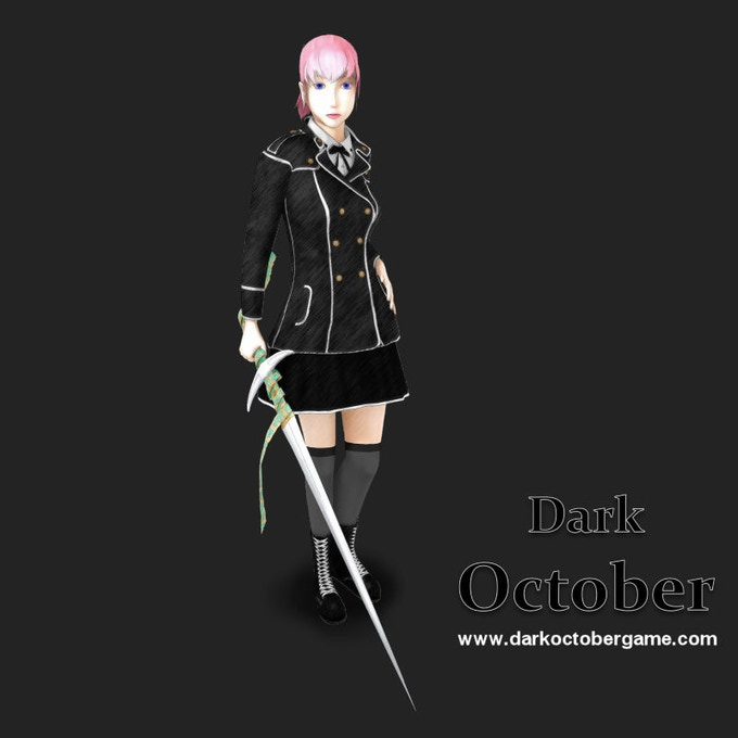 Trisha Moore, female playable character of Dark October.