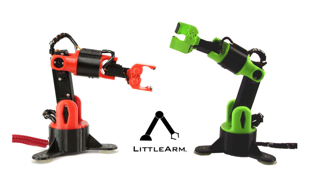 LittleArm Big - Arduino Robot Arm for Makers and Education project video thumbnail