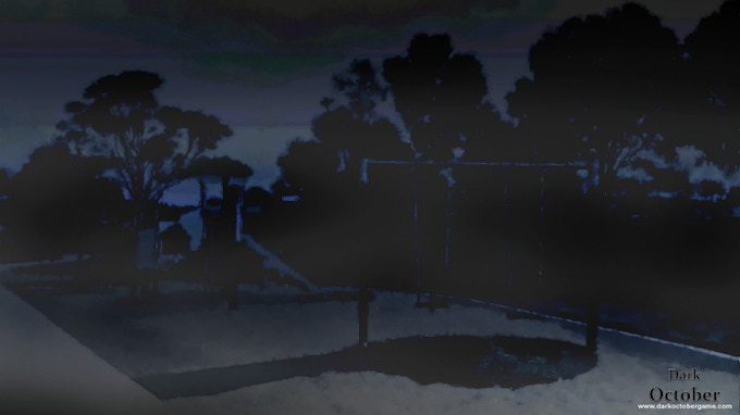 In Dark October, people get lost even in a once familiar park, but you could change that.