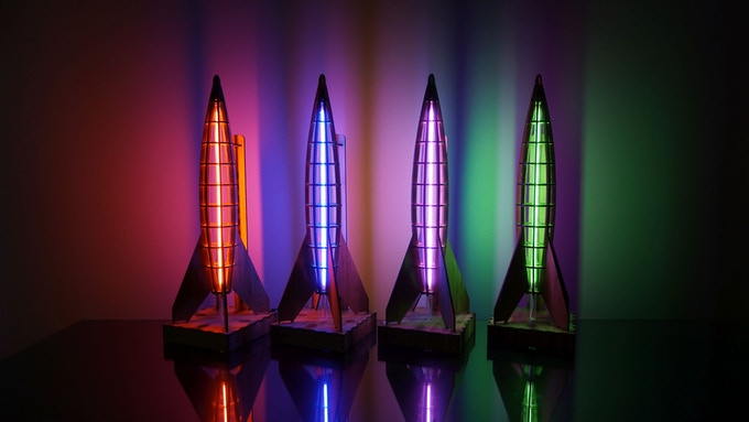 Make 100 Rocket Lamp Limited Edition Table Lamp By