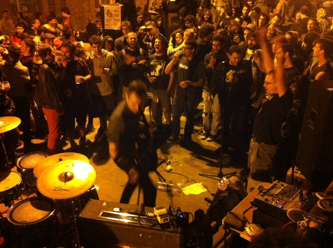 Street show in Vic, Cataluñya, 3 AM