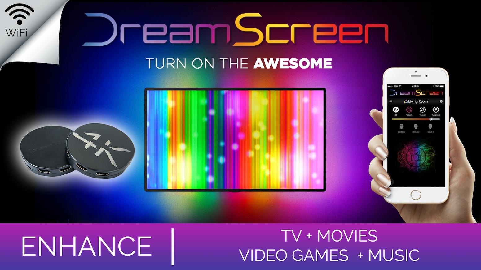 Dreamscreen Hd Amp 4k Smart Tv Backlighting For Any Hdmi