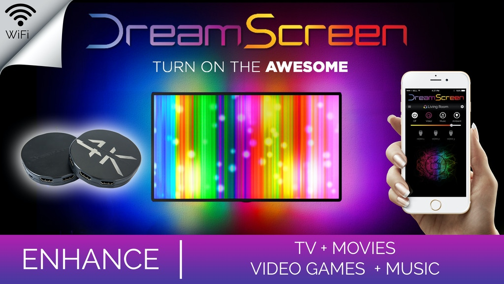 DreamScreen HD & 4K - Smart TV Backlighting for any HDMI TV! project video thumbnail
