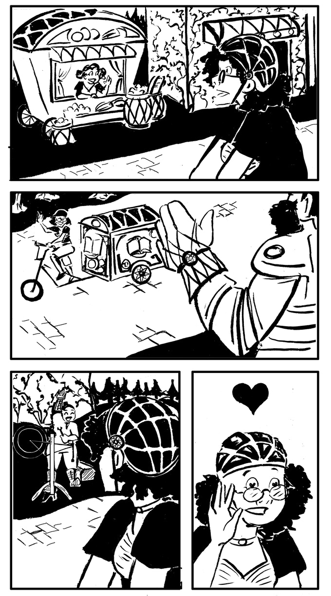 """A page from Maddy Spencer's comic, """"Meet Cute"""""""