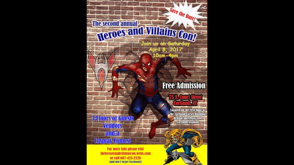The 2nd annual heroes and villains con free admission by for Asia cuisine ithaca hours