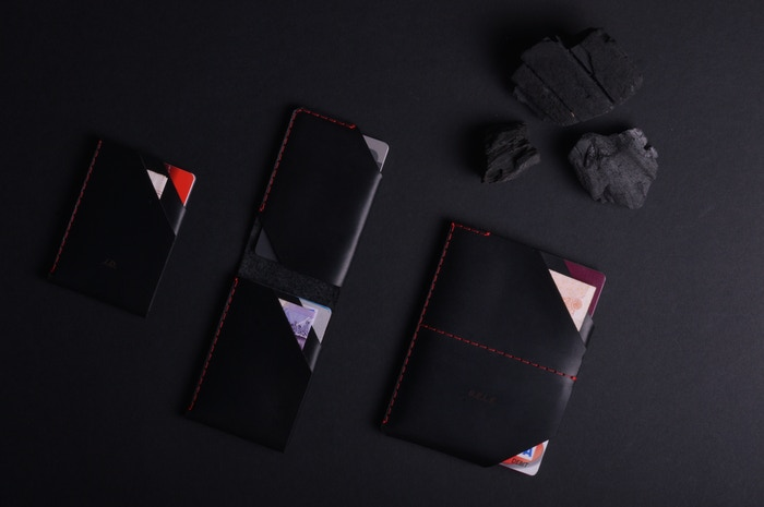 A range of handmade leather goods, breaking the mould of disposable fashion. Choose your leather, thread and personalise it.