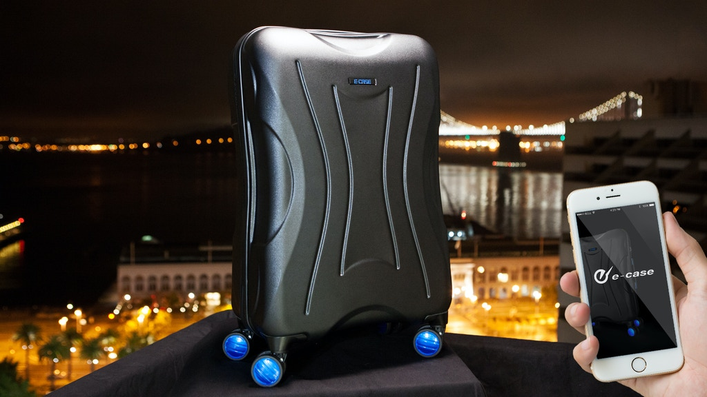 E-CASE – First Smart Check-in Luggage With Real GPS project video thumbnail