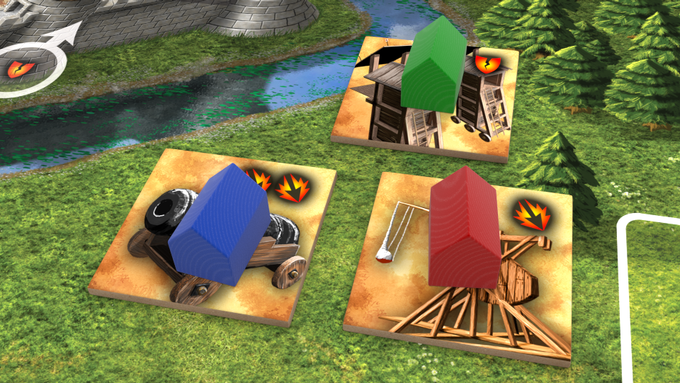 Buildings upgraded with siege engines!