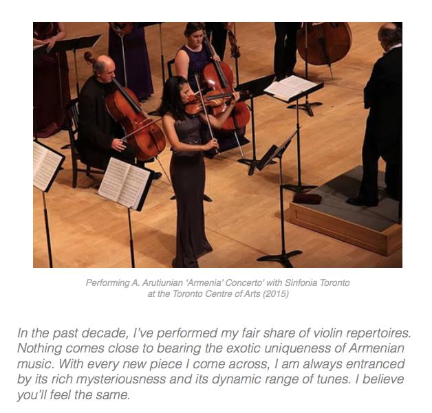 Hidden Treasure - Classical Armenian Music - Violin CD by