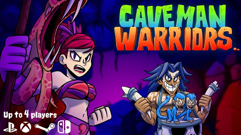Caveman Warriors - Multiplayer Platformer Arcade Game project video thumbnail