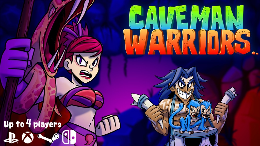 Caveman Warriors - Multiplayer Platformer Arcade Game project video thumbnail