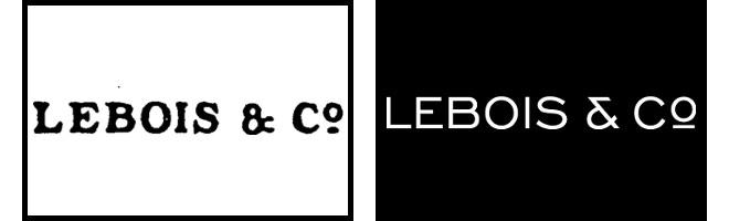 Original Lebois & Co logo and the new modern logo