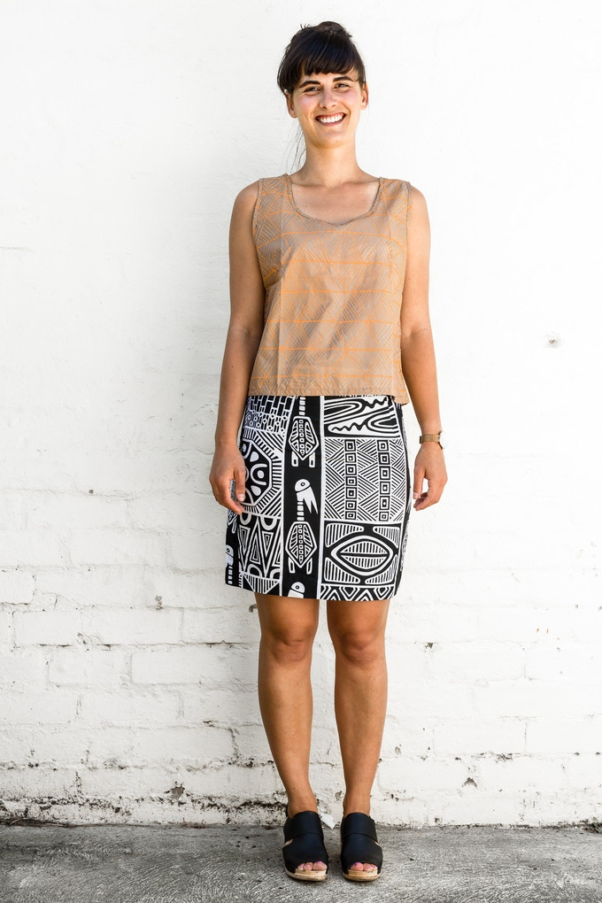 silk singlet top will be available in new mystery colour;  pair it with a pencil skirt and enjoy the results!