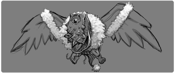 Owpeck enemy from the Yokiburu Mountains