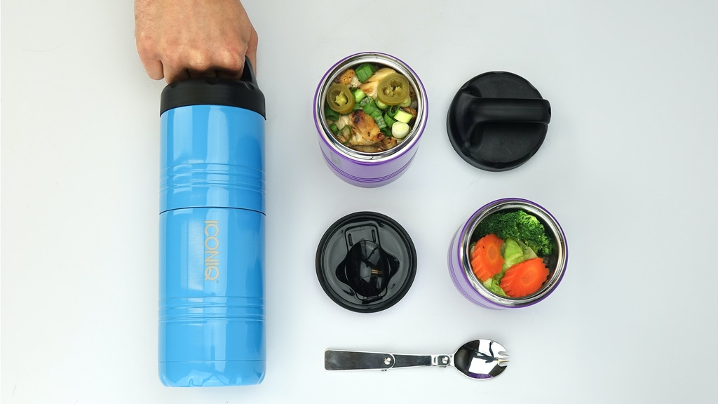 Iconiq Qore - The Stackable Insulated Food Container project video thumbnail