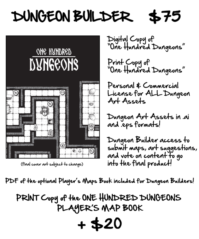 One Hundred Dungeons: A Make/100 Dungeons project by M.W