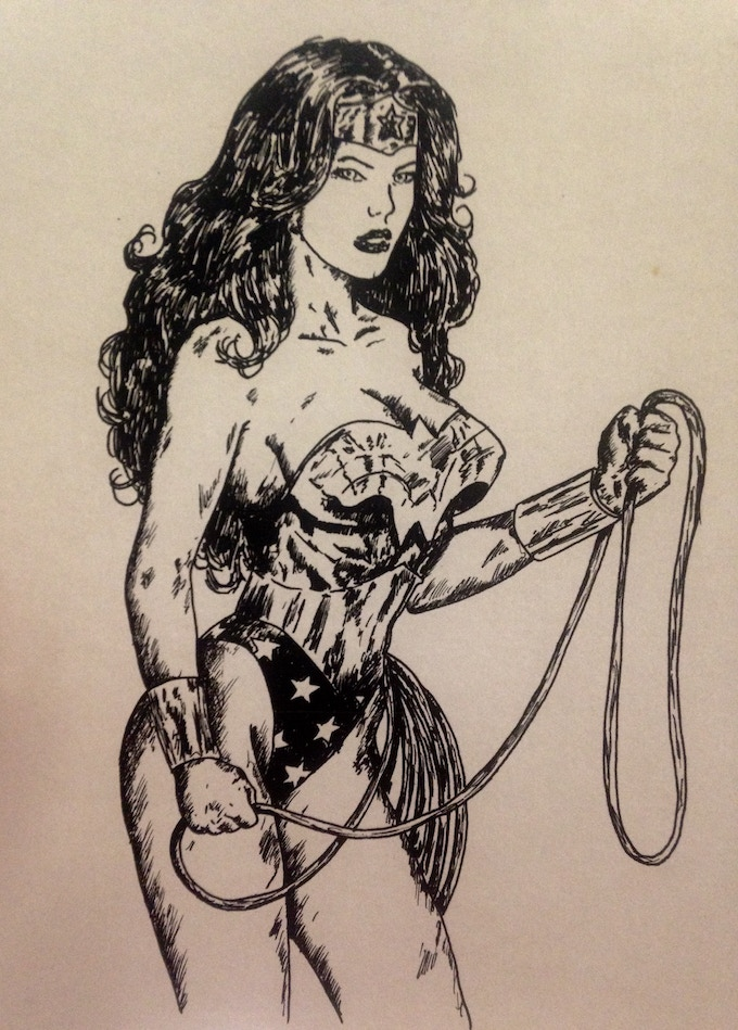 Signed, Limited Edition, Wonder Woman Print by James Picard