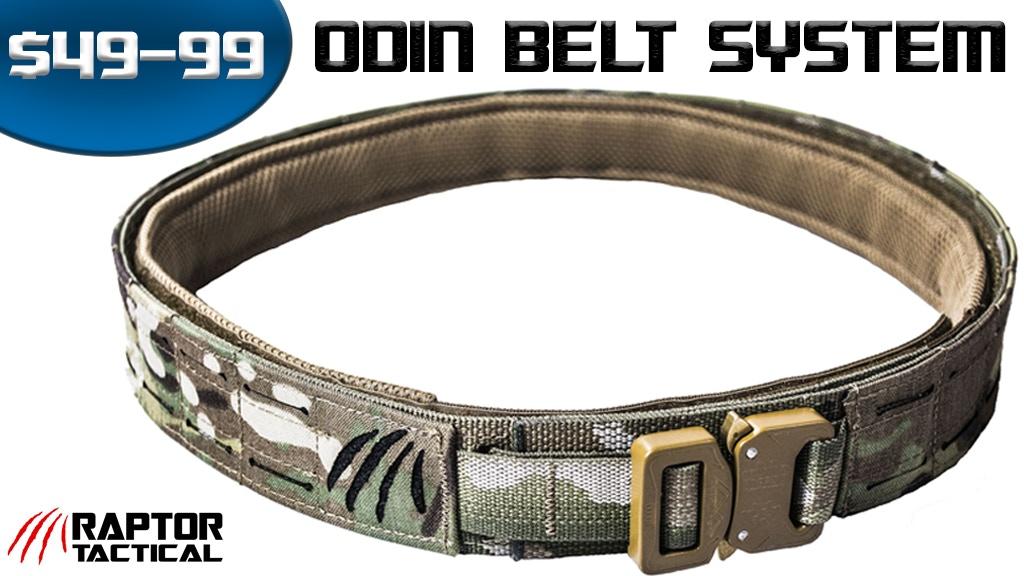 RAPTOR TACTICAL - ODIN tactical belt system Mark I, II, III project video thumbnail