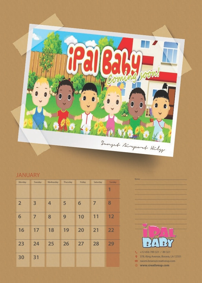 Calendar that's great for the kid's room