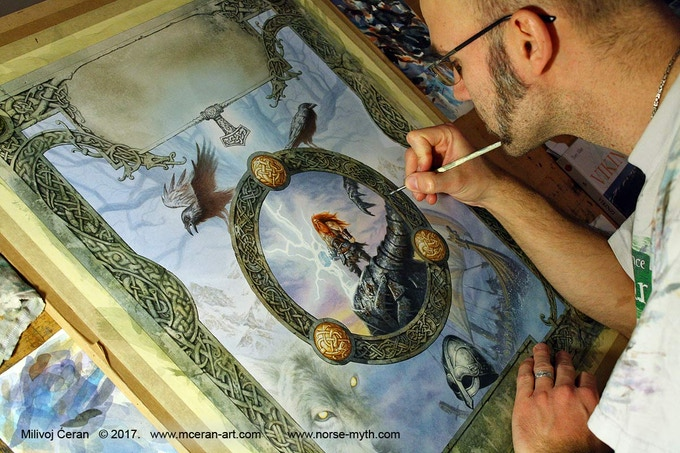 Milivoj Ćeran Norse Mythology Art Book by ArtOrder — Kickstarter