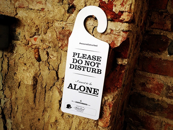 Introvert and INFJ 'Do Not Disturb' Hanging Door Signs by Daniel