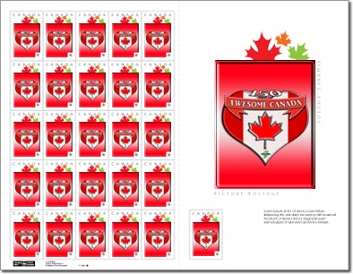 150 Years of Awesome Canada Stamps: 25 sheet
