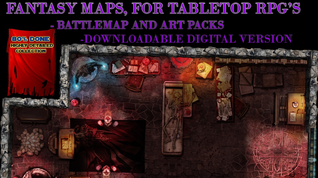 RPG TABLE TOP FANTASY MAPS project video thumbnail