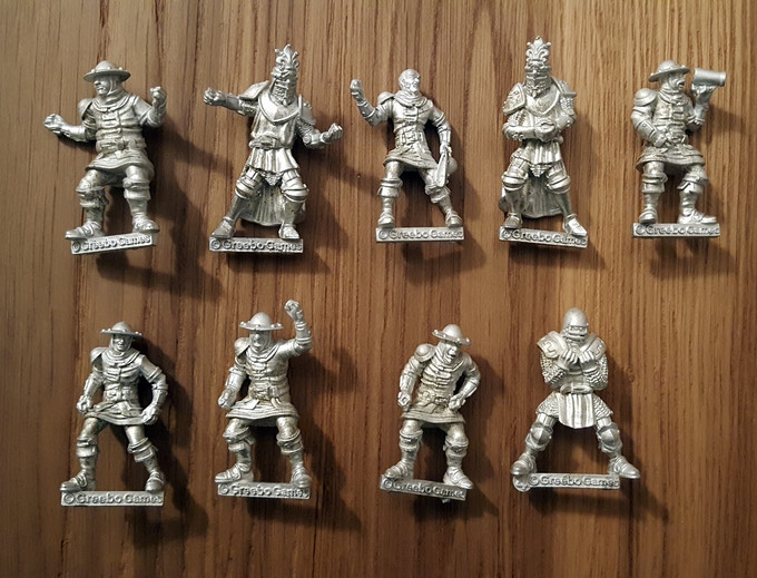 Firsts models sample cast in metal