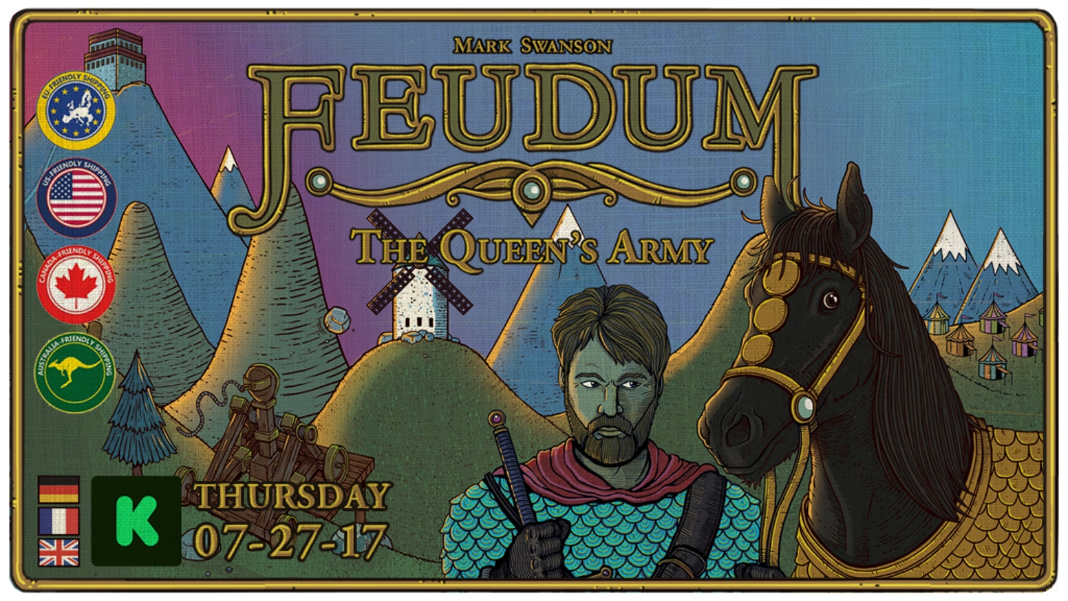 Foil the Queen's treachery and rise to power in this solo player variant of the game Feudum!
