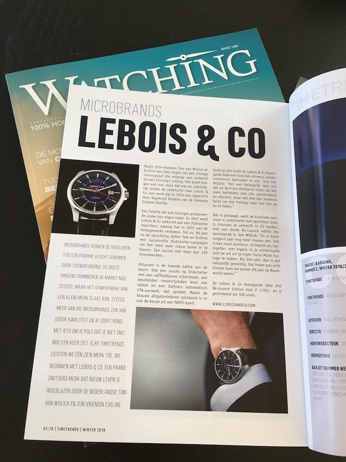Lebois & Co in TimeTrends magazine