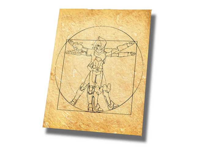 Golden Ratio Blueprint (sample image)
