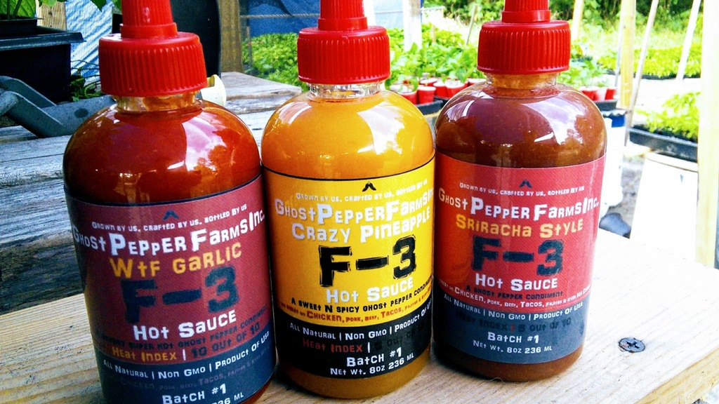 Ghost Pepper Farm's F-3 All Natural~Non Gmo Hot Sauce. project video thumbnail