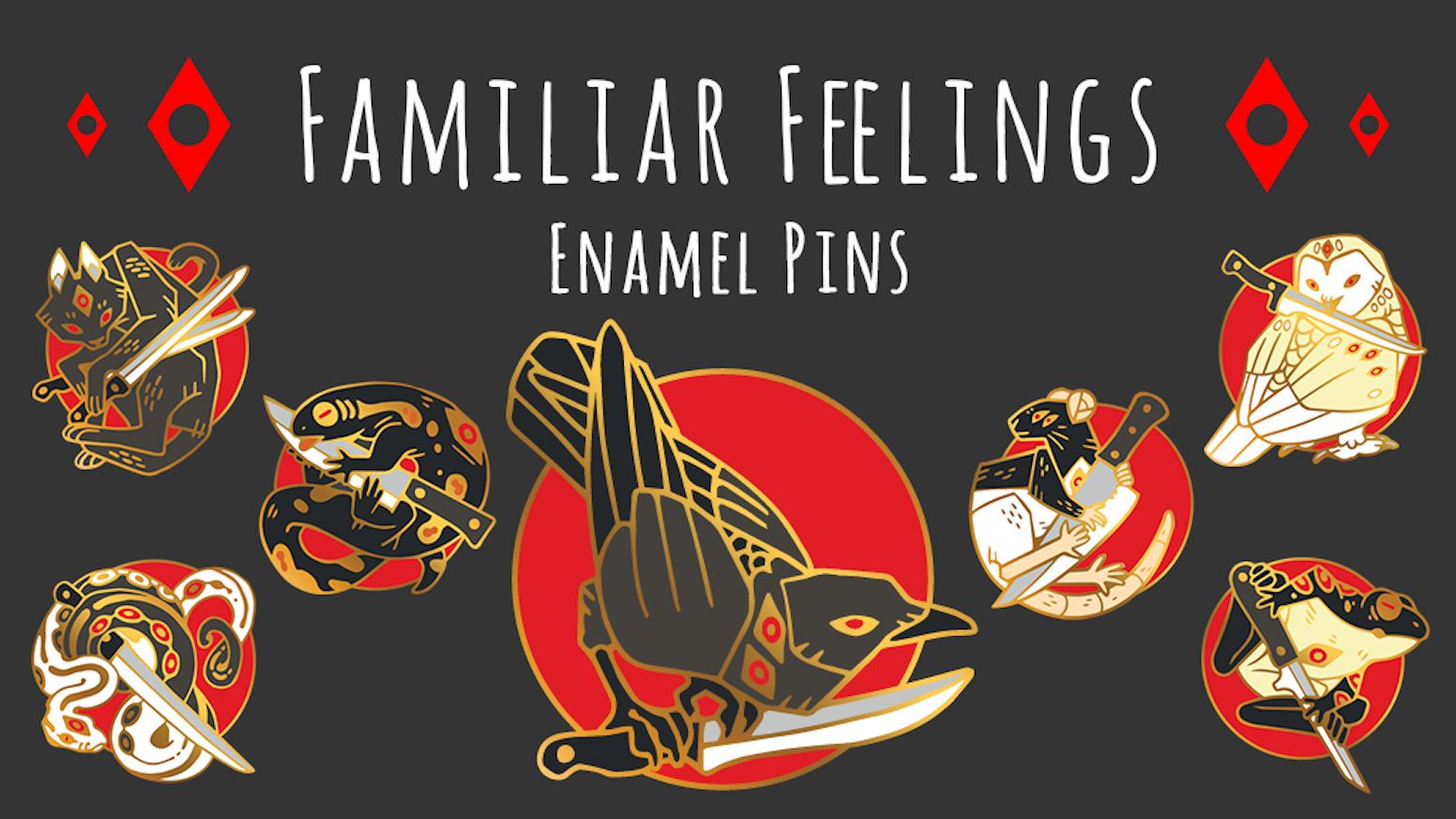 Familiar Feelings Enamel Pins by Crow Council — Kickstarter