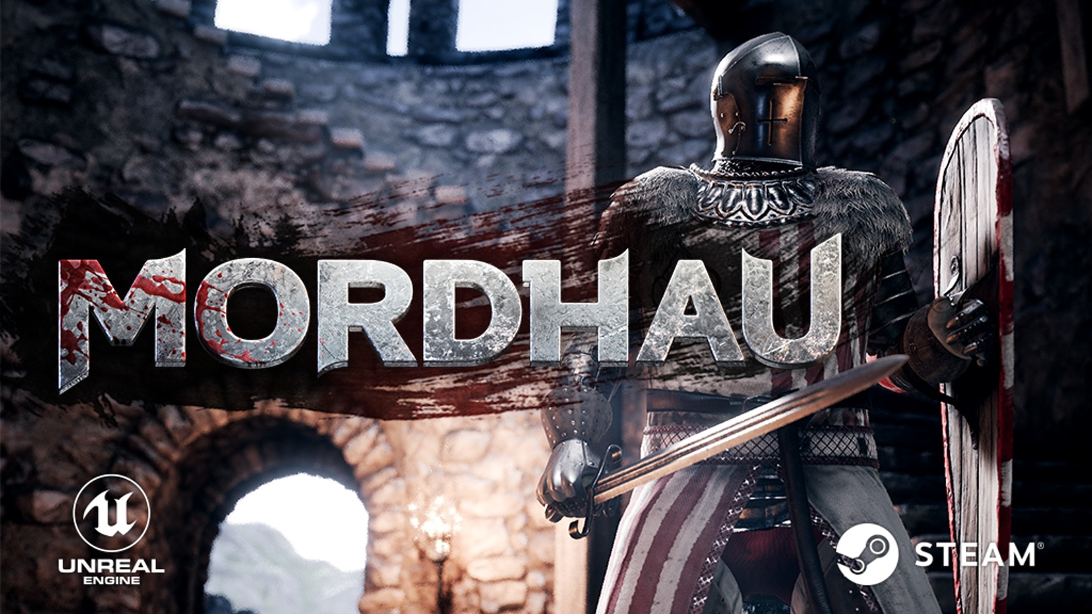 Mordhau is a multiplayer medieval melee game featuring large open battles, siege engines, and mounted combat.