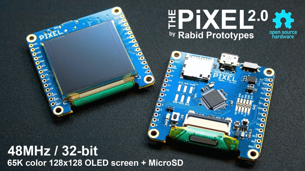 Pixel 2.0 - The Arduino compatible smart display! project video thumbnail
