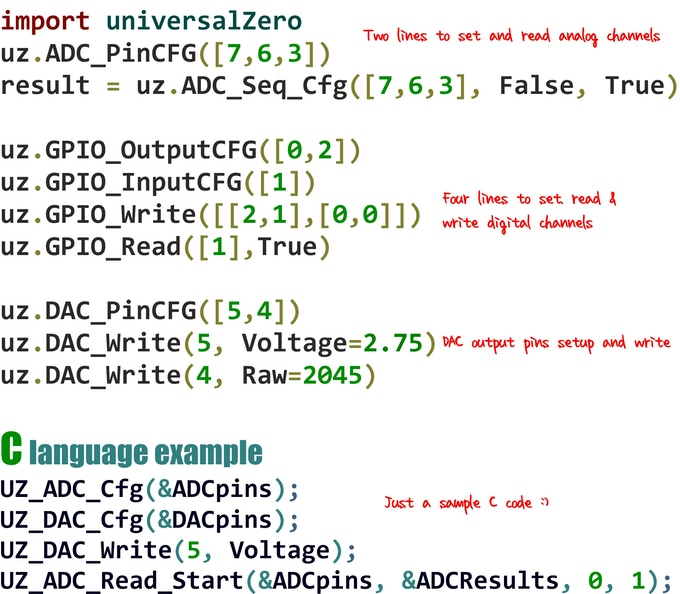 Universal ADC / DAC & GPIO for Raspberry Pi pHat  8 ports by