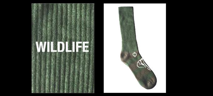 Wildlife Socks prototype design - 95% upcycled yarn