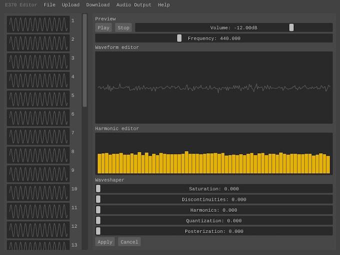 Prototype of WaveEditor application