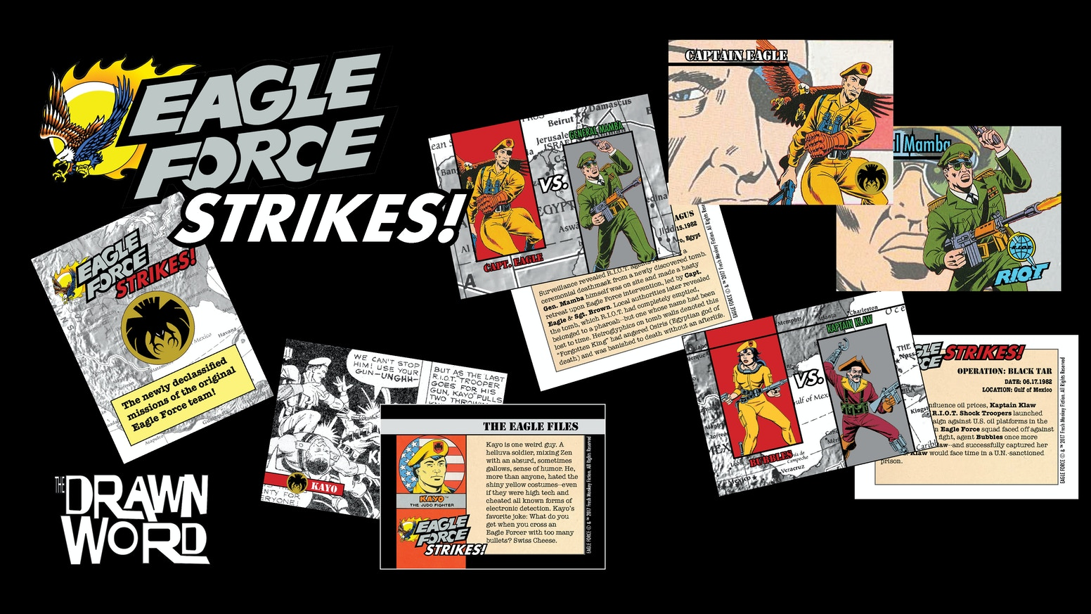 Learn the secrets of Eagle Force's past, straight from their classified files!