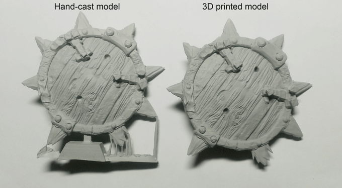 a sample of Hand-cast model