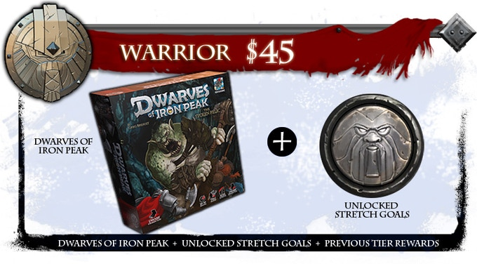 Dwarves of Iron Peak base game includes all miniatures!