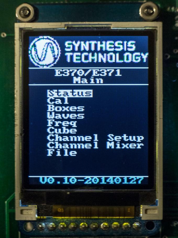 Prototype home screen