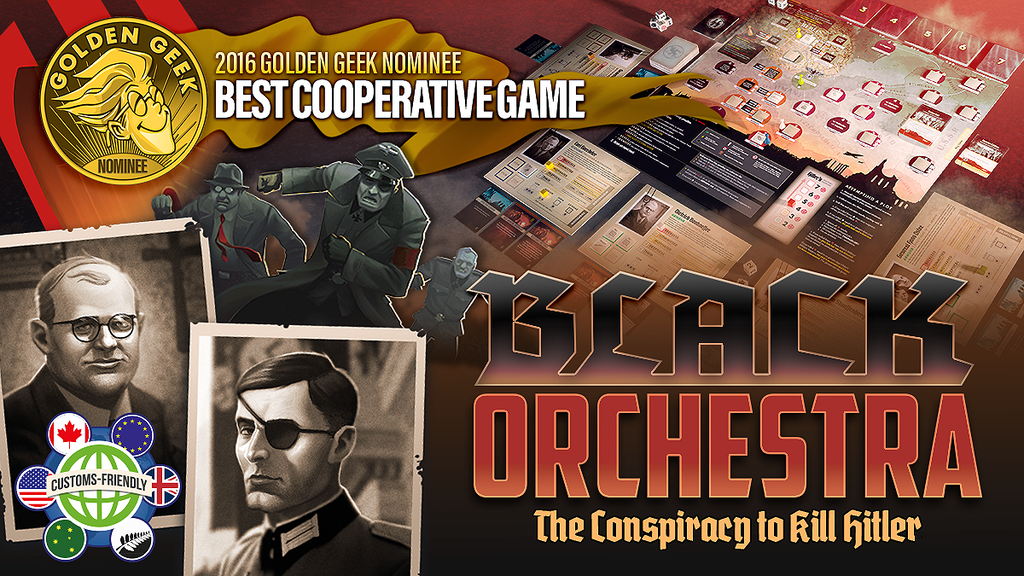 A cooperative historical board game for 1-5 players who play as conspirators in a daring plot to assassinate the tyrant Adolf Hitler.
