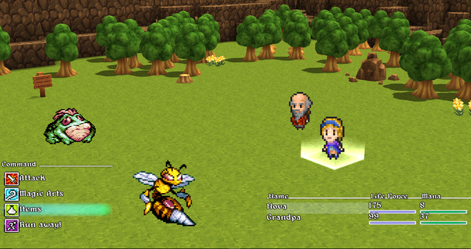Sol Ni Koro - A handcrafted 3D RPG, with 2D pixel sprites by