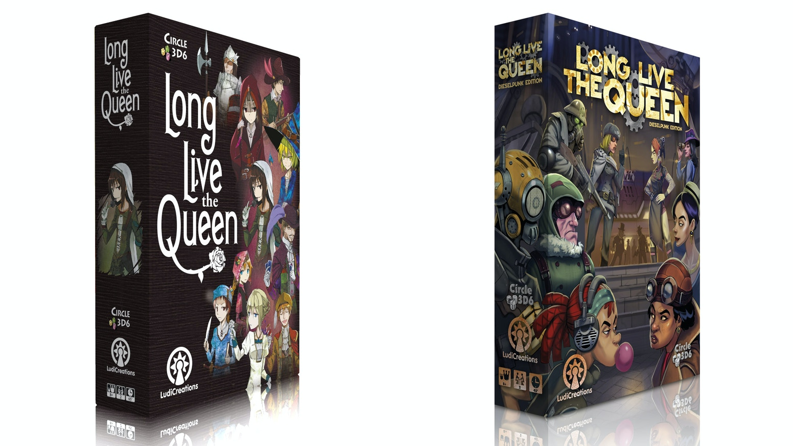 Plot to seize the throne in this dynamic game for 2 players. Choose anime or dieselpunk and help us republish this Japanese gem!